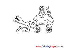 Wagon download Colouring Sheet free