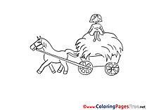 Wagon printable Coloring Pages