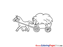 Wagon printable Coloring Pages for free