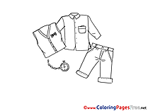 Clothes Coloring Sheets download free
