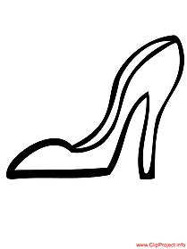 Mode coloring pages heels