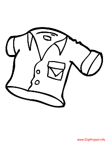 Shirt image to coloring for free