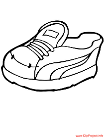 Shoes to color image