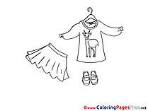 Skirt Kids download Coloring Pages