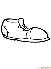 Sneakers picture to coloring