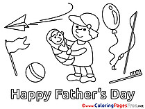 Baby Coloring Pages free  Father's Day