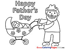 Baby free Coloring Pages Father's Day