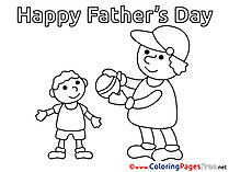 Ball Coloring Pages Father's Day for free