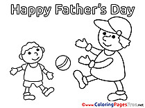 Ball printable Father's Day Coloring Sheets