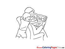 Book free Father's Day Coloring Sheets