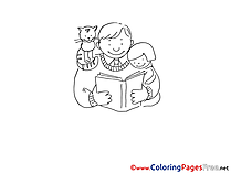 Book printable Coloring Pages Father's Day