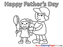 Boy free Father's Day Coloring Sheets