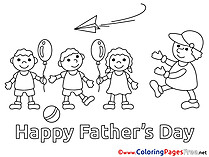 Children Colouring Page Father's Day free