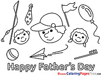 Children free Colouring Page Father's Day