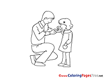 Daughter download Father's Day Coloring Pages