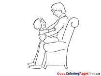 Family Father's Day Coloring Pages