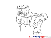 Gift printable Father's Day Coloring Sheets