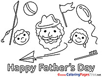 Holiday Coloring Sheets Father's Day free