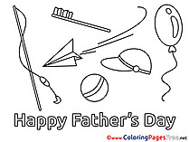 Holiday Father's Day Coloring Pages download