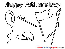Holiday Father's Day free Coloring Pages