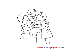 Kids Coloring Pages Father's Day for free
