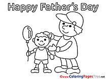 Kids Father's Day Coloring Page