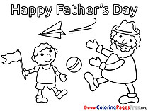 Plane Father's Day free Coloring Pages