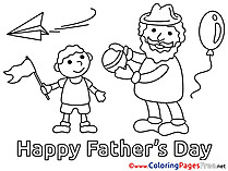 Son Colouring Page Father's Day free