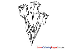 Bouquet Children download Colouring Page