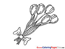Bouquet for free Coloring Pages download