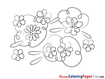 Kids download  Flowers Coloring Pages