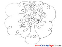 Painting Flowers for Children free Coloring Pages