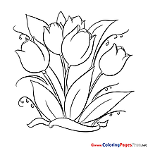Painting Tulips download printable Coloring Pages