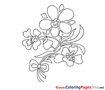 Pansy Children Coloring Pages free