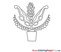 Pot Kids free Coloring Page