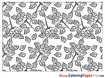 Roses for Children free Coloring Pages