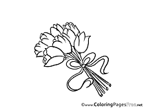 Tulips printable Coloring Sheets download