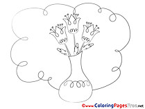 Vase free Colouring Page download