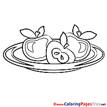 Apples Coloring Sheets download free