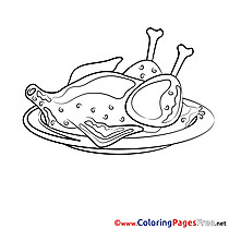 Chicken download Coloring Pages