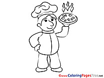 Cook free Colouring Page download