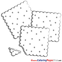 Cookie Colouring Sheet download free