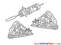 Food Coloring Pages for free