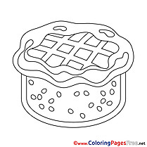 Free Happy Birthday Cake Coloring Sheets