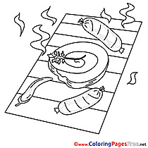 Grill Coloring Pages for free