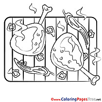 Grill printable Coloring Sheets download