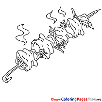 Kebab for free Coloring Pages download