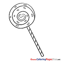 lollipop for kids printable colouring page