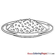 Meal Kids free Coloring Page
