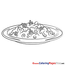 Mushrooms Colouring Page printable free